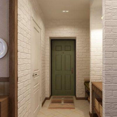 Зеленая дверь цвета лофт
