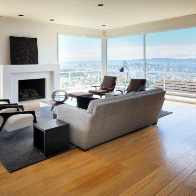 Расположение мебели посреди комнаты