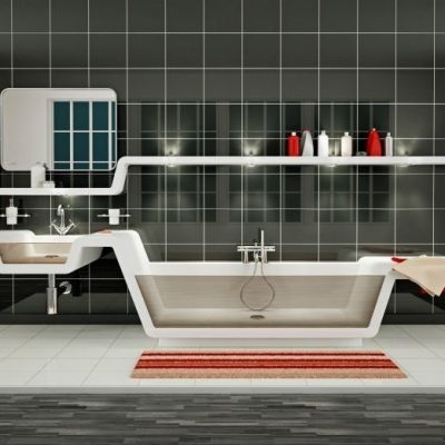 Расположение ванны в интерьере комнаты