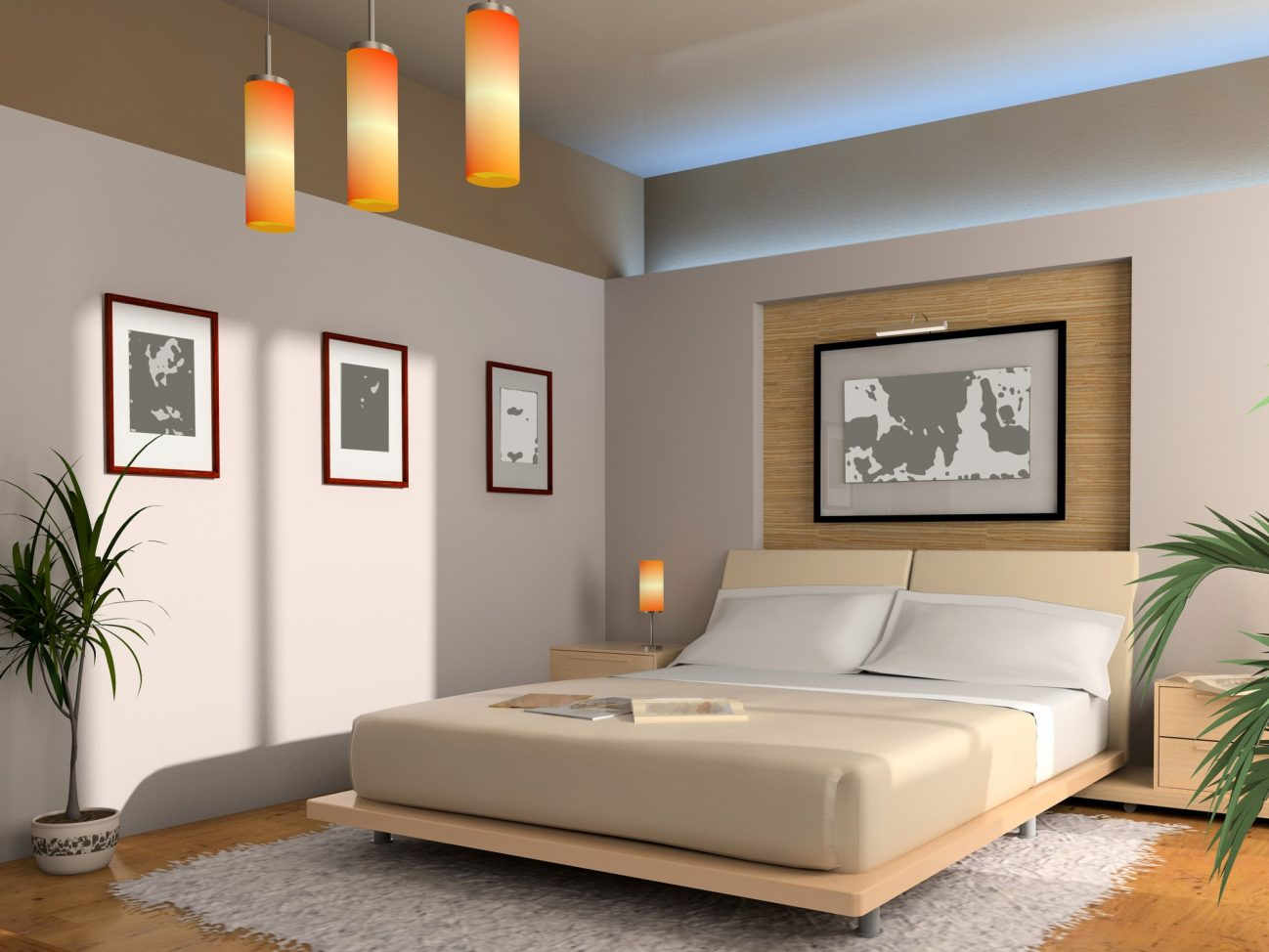 Оформление спальни по фен шуй фото