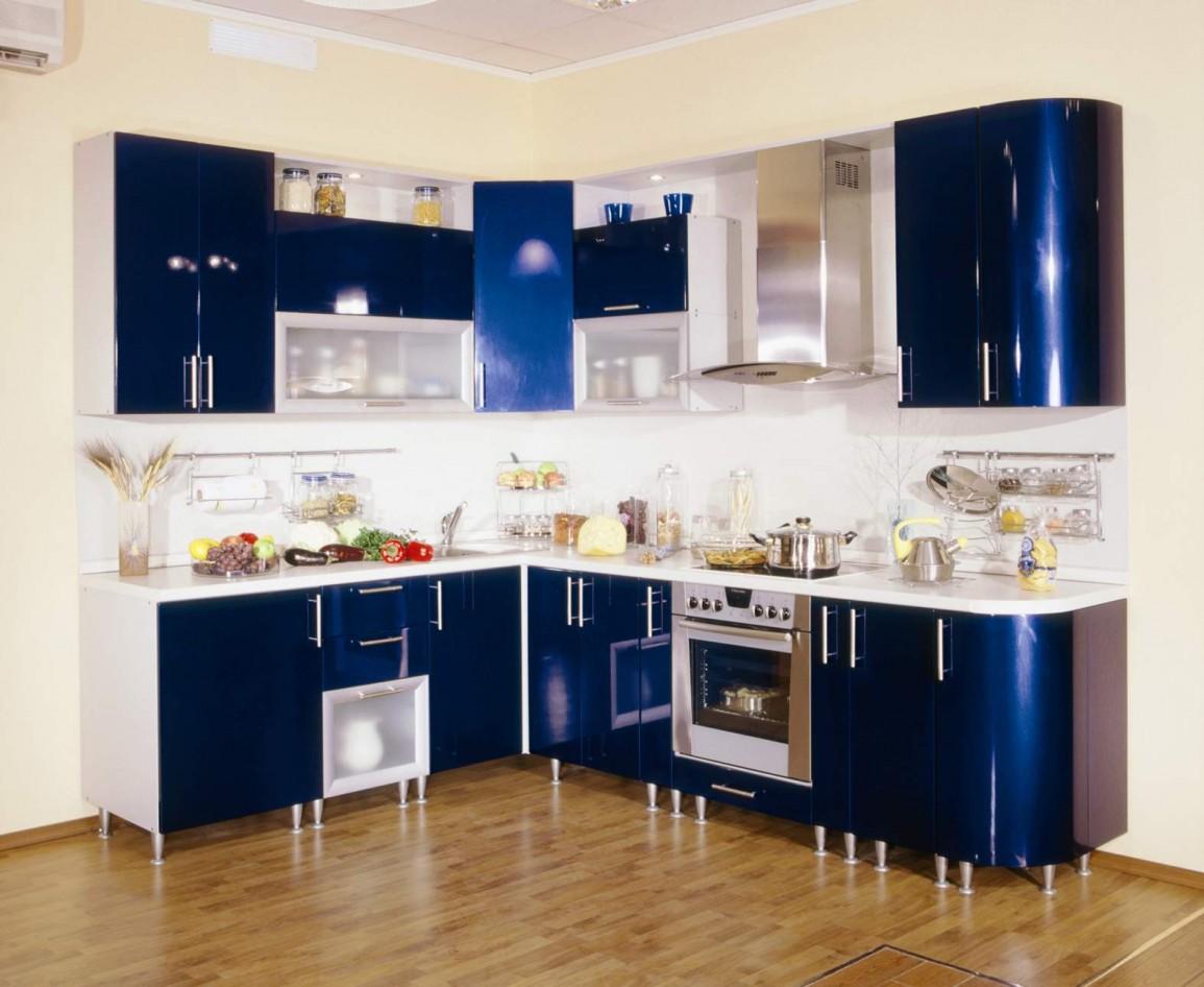 Стмльная синяя кухня