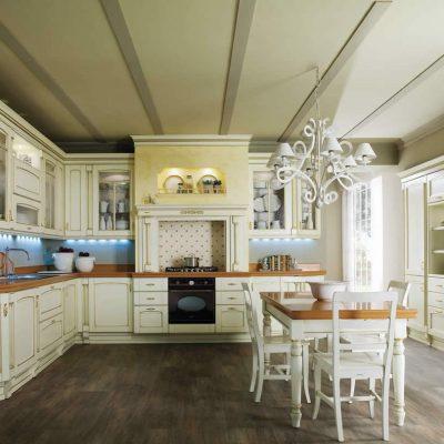 Огромных размеров кухня