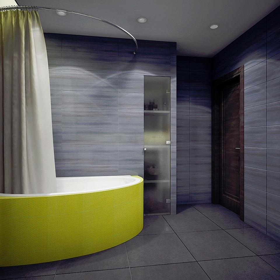 Оформление стены ванной
