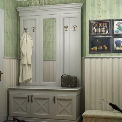 Приожая комната в интерьере прованс стиля на фото примере