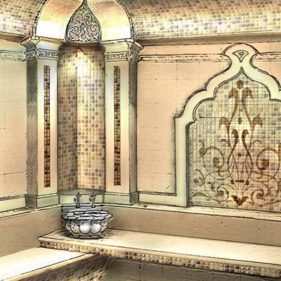 Пример облицовки стен