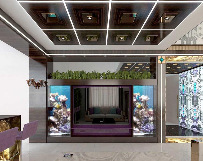 Стильная и модная гостиная