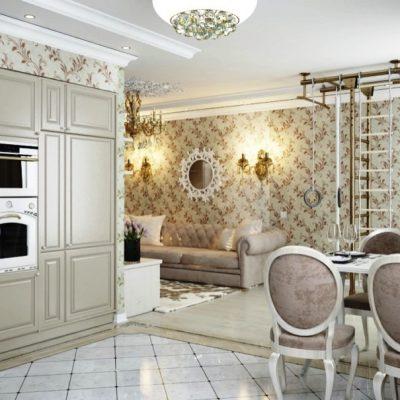 Белая мебель арт деко