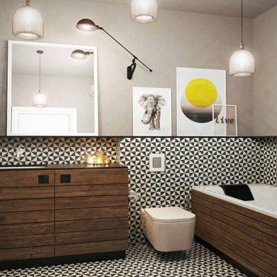 Интерьер ванной комнаты и его освещение