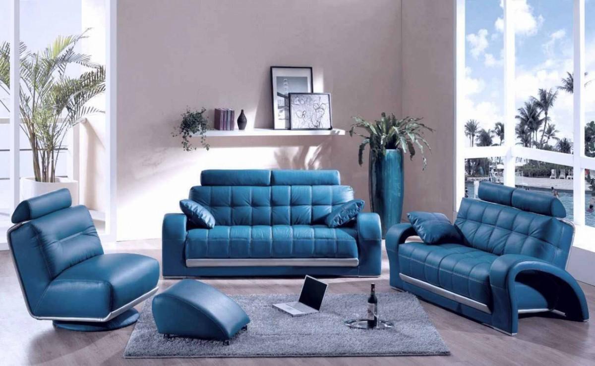Синий комплект мебели