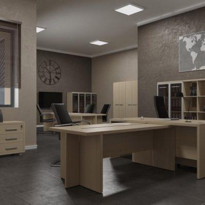 Мебель в офисе в стиле лофт