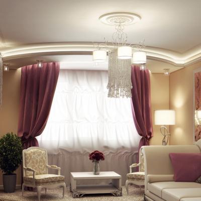 Пример просторной гостиной