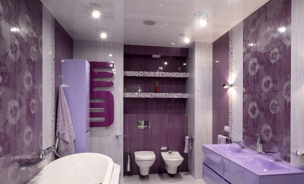 фиолетовый оттенок ванной