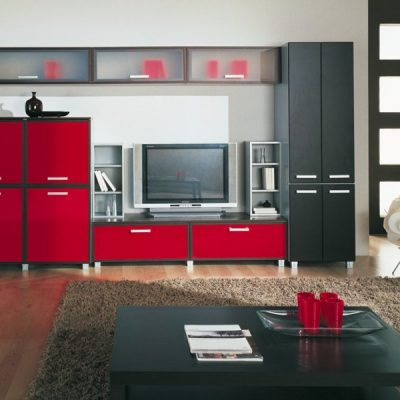 Черно-красные цвета в стенке