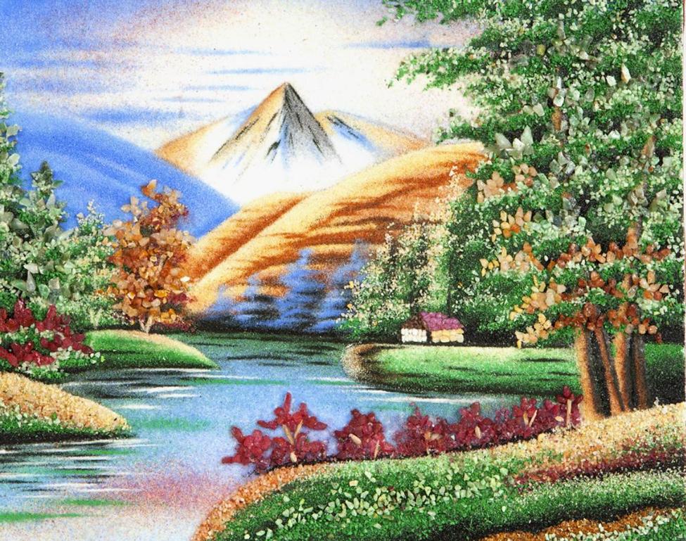 Горы на изображении картины по фен шуй
