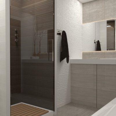 Перегародка в интерьере ванной