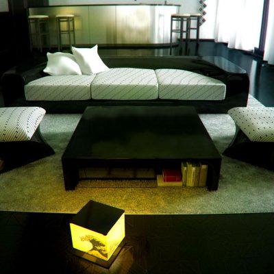 Освещение и мебелировка гостиной
