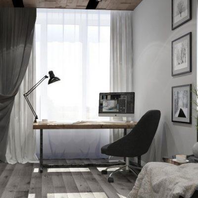 Спокойный интерьер кабинета