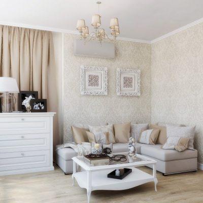 Угловой диван в светлом интерьере