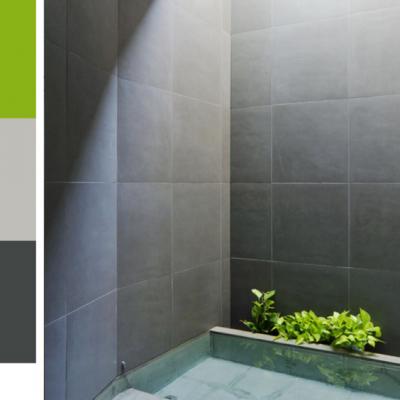 Черно зеленые цвет ванной