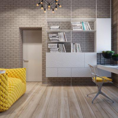 Современная комната кабинета