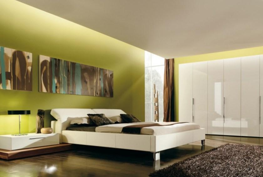 Зеленый оттенок спальни