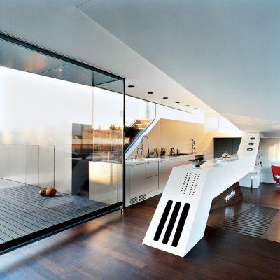 Гостиная хай тек стиля в интерьере