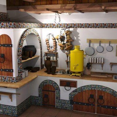 Кухня в стиле Русь