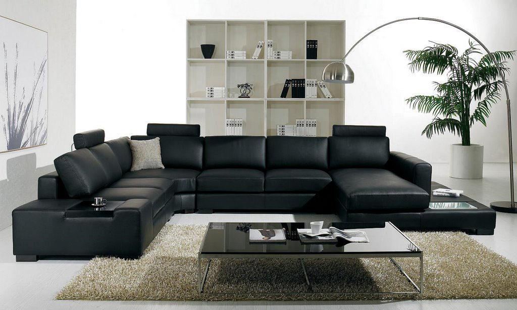 Черный цвет дивана