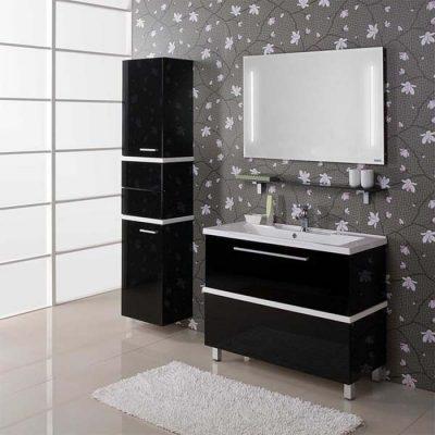 Черная мебель на стенах