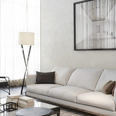 Светлая обивка дивана