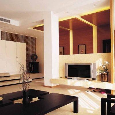 Японский стиль гостиной комнаты