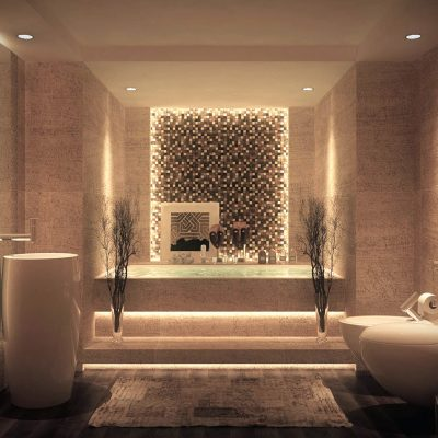 Модерн стиль ванной на фото