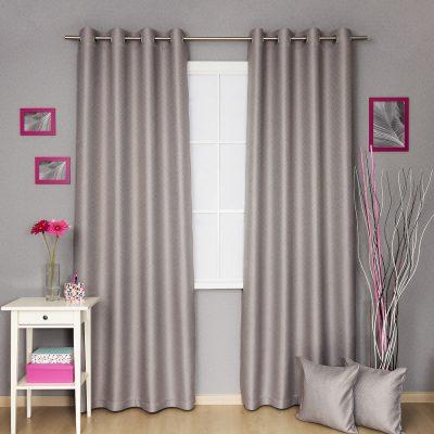 Серые шторы