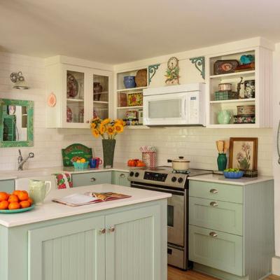 Шебби шик цвета кухни