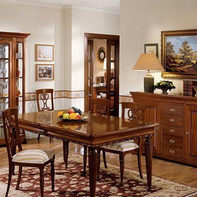 Шоколадный оттенок мебели
