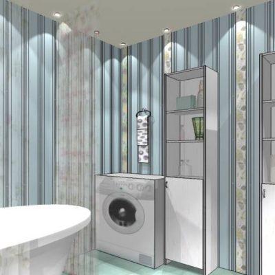 Проект ванной в стиле прованс