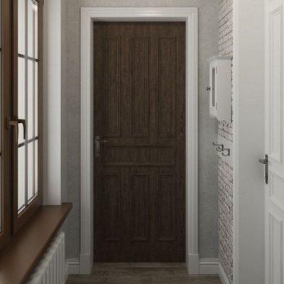 Дверь и окна в прихожей
