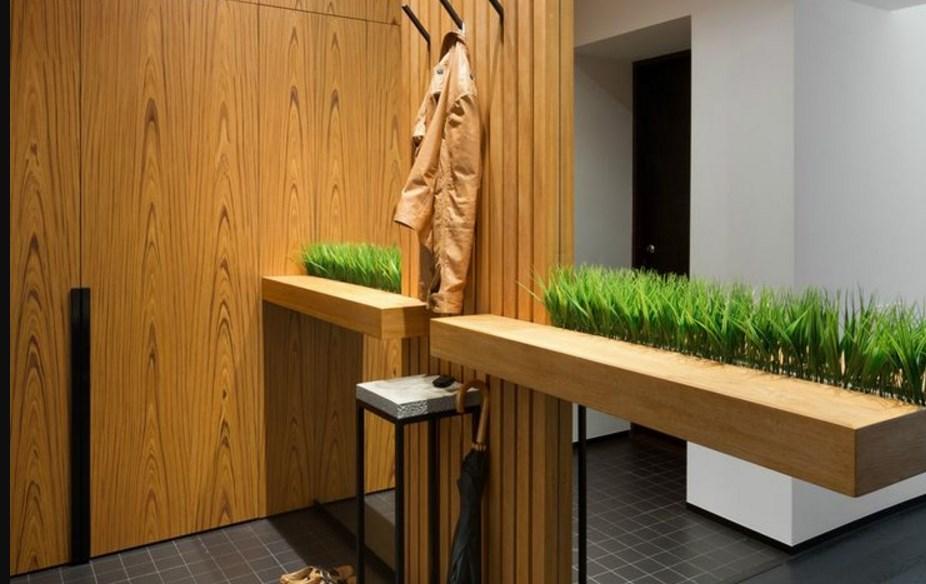 трава в интерьере лофта