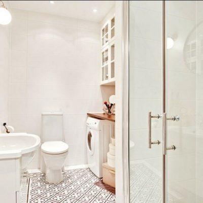 Предметы скандинавского стиля в ванной