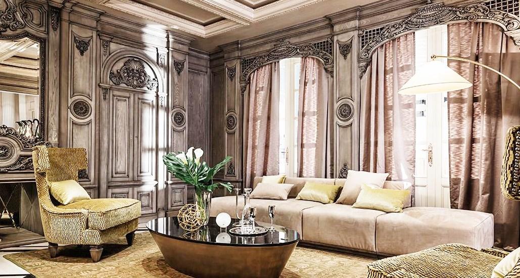 Романтического оформление гостиной