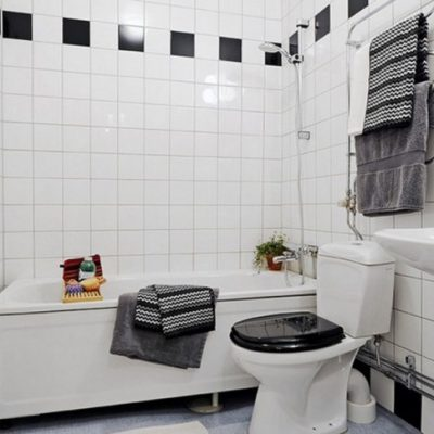 Предметы скандинавского стиля в ванной комнате