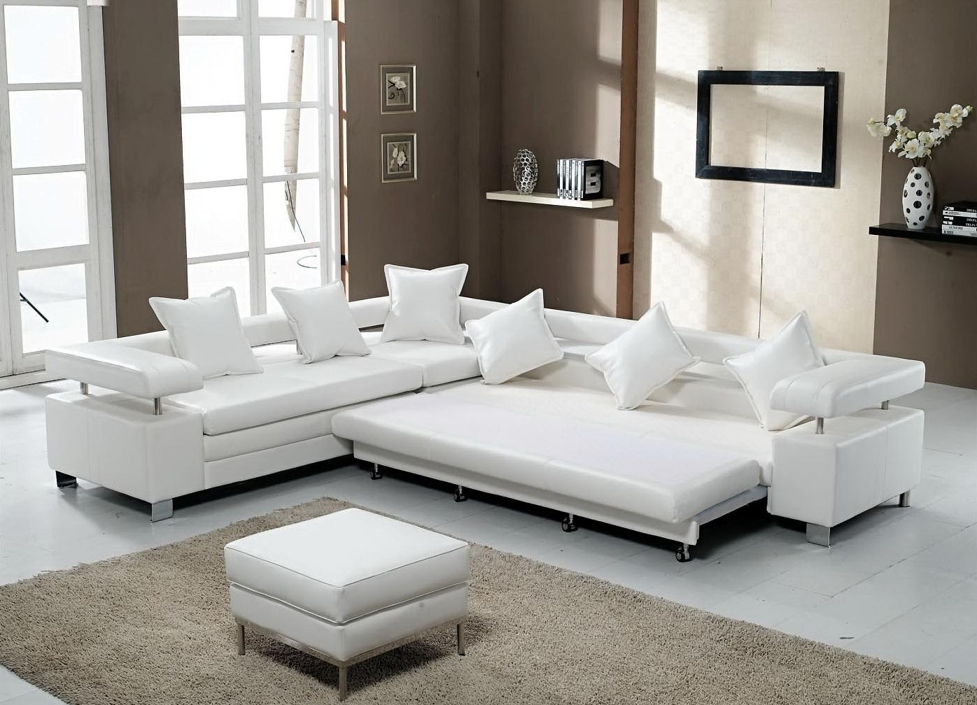 Стильный белый диван