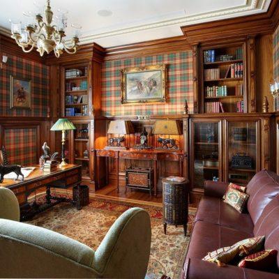 Гостиная-библиотека
