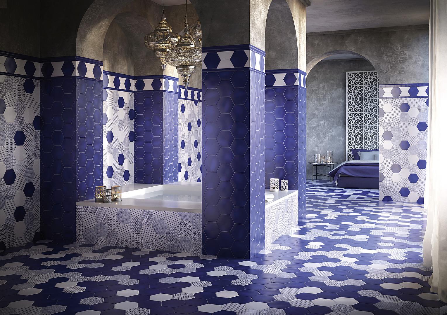 Красивая плитка в ванной на фото