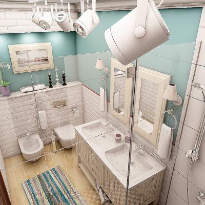 Предметы скандинавского стиля в ванной комнате на фото сверху