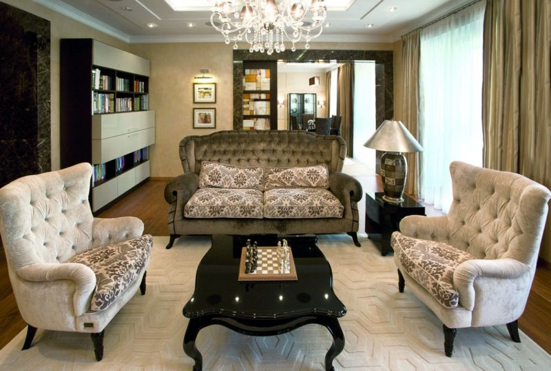 Расположение мебели в интерьере