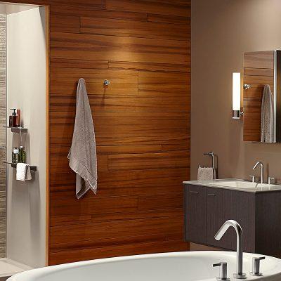 Оформление сантехникой ванной