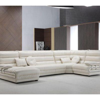 Белый диван под хай тек