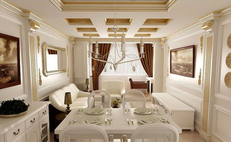Гостиная в стиле неоклассика: характерные особенности интерьера