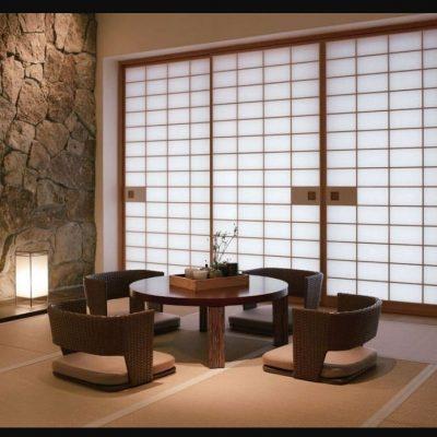 Японский стиль гостиной комнаты в интерьере